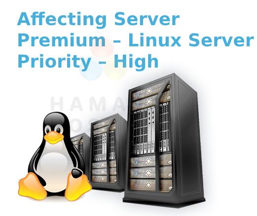 Affecting Server – Premium – Linux Server | Priority – High