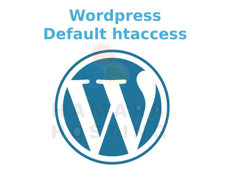 WordPress default htaccess